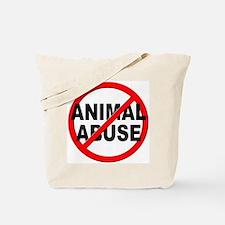 Anti / No Animal Abuse Tote Bag