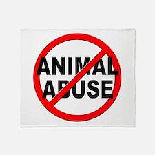 Anti / No Animal Abuse Throw Blanket