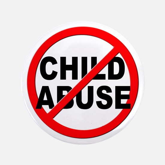 """Anti / No Child Abuse 3.5"""" Button (100 pack)"""