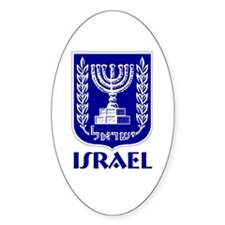 """""""Israel"""" Coat of Arms Oval Decal"""