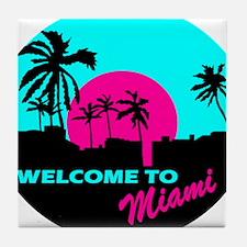 Welcome to Miami Tile Coaster