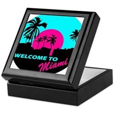 Welcome to Miami Keepsake Box