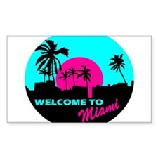 Welcome to Miami Decal