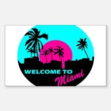 Welcome to Miami Sticker (Rectangle)