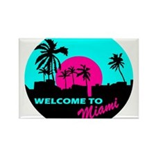 Welcome to Miami Rectangle Magnet