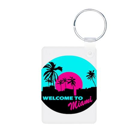 Welcome to Miami Aluminum Photo Keychain