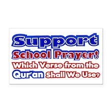 School Prayer Quran Rectangle Car Magnet