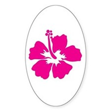 Hot Pink Hibiscus Flower Decal