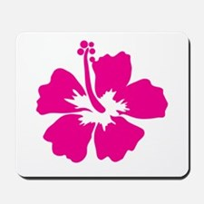 Hot Pink Hibiscus Flower Mousepad