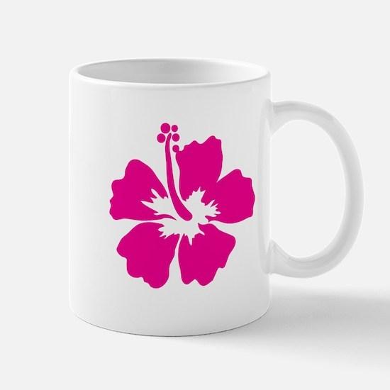 Hot Pink Hibiscus Flower Mug