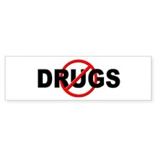 Anti / No Drugs Bumper Sticker
