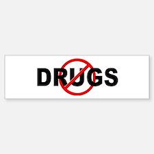 Anti / No Drugs Sticker (Bumper 10 pk)