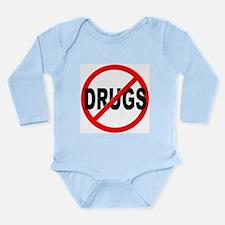 Anti / No Drugs Long Sleeve Infant Bodysuit