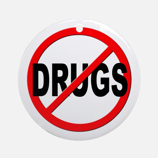 Anti / No Drugs Ornament (Round)