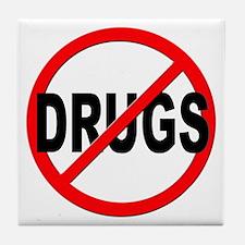 Anti / No Drugs Tile Coaster