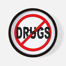 Anti / No Drugs Wall Clock