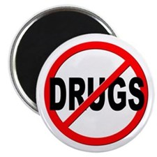 "Anti / No Drugs 2.25"" Magnet (10 pack)"
