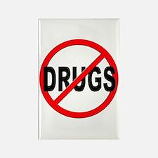Anti / No Drugs Rectangle Magnet