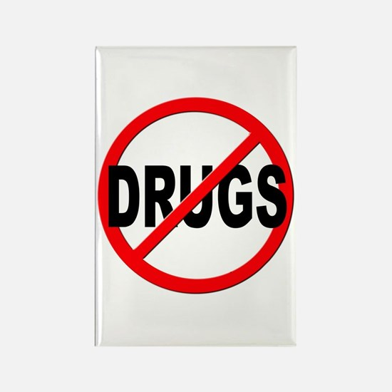 Anti / No Drugs Rectangle Magnet