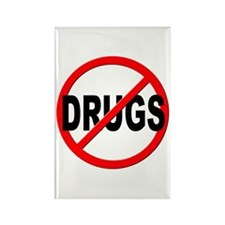 Anti / No Drugs Rectangle Magnet (10 pack)