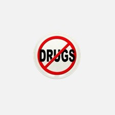 Anti / No Drugs Mini Button