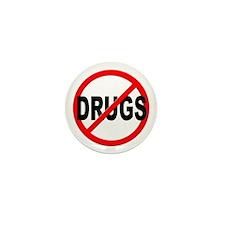 Anti / No Drugs Mini Button (10 pack)