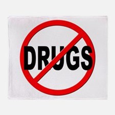 Anti / No Drugs Throw Blanket