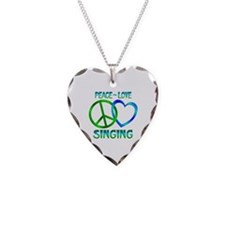 Peace Love Singing Necklace