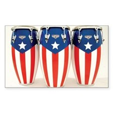 Puerto Rico Drums Decal