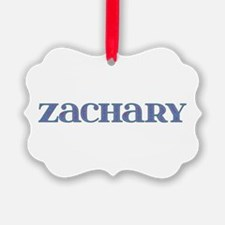 Zachary Blue Glass Ornament