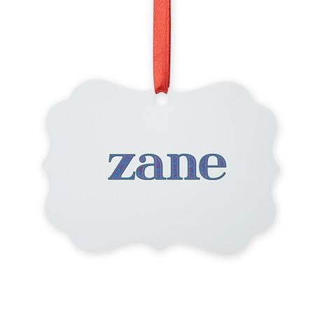 Zane Blue Glass Picture Ornament