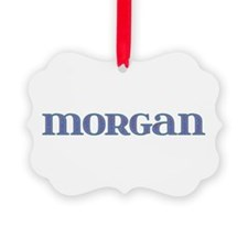 Morgan Blue Glass Ornament