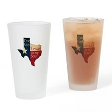 Texas in my Soul Drinking Glass
