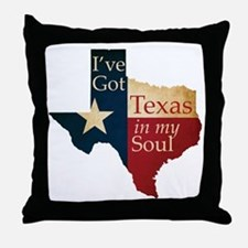 Texas in my Soul Throw Pillow