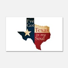 Texas in my Soul Wall Decal
