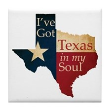 Texas in my Soul Tile Coaster