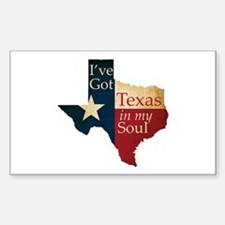 Texas in my Soul Sticker (Rectangle)