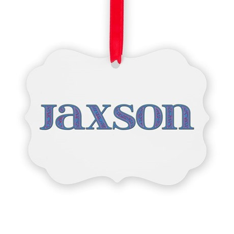 Jaxson Blue Glass Picture Ornament