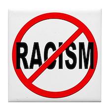 Anti / No Racism Tile Coaster