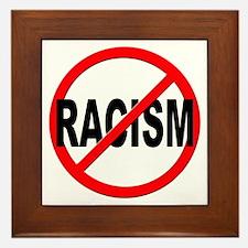 Anti / No Racism Framed Tile