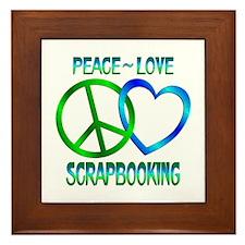 Peace Love Scrapbooking Framed Tile