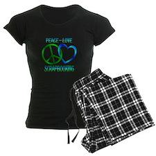 Peace Love Scrapbooking Pajamas