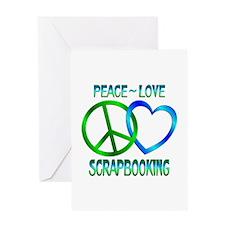 Peace Love Scrapbooking Greeting Card
