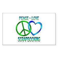 Peace Love Scrapbooking Bumper Stickers