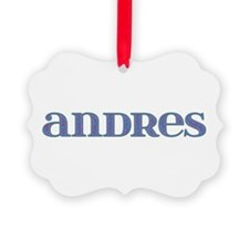 Andres Blue Glass Ornament
