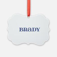 Brady Blue Glass Ornament