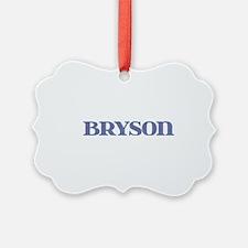 Bryson Blue Glass Ornament