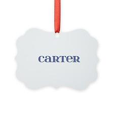 Carter Blue Glass Ornament