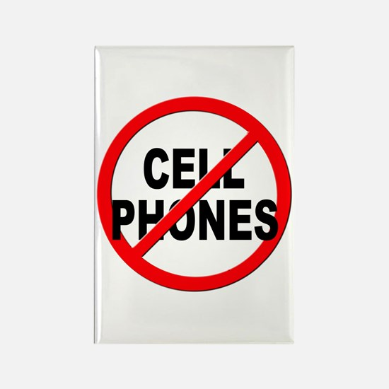 Anti / No Cell Phones Rectangle Magnet