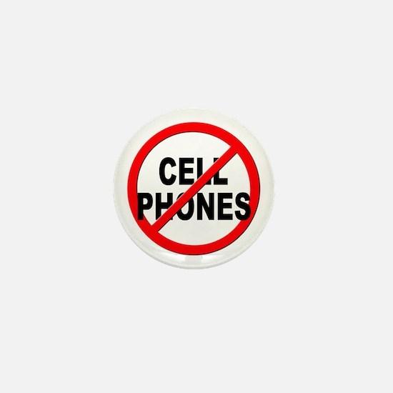 Anti / No Cell Phones Mini Button